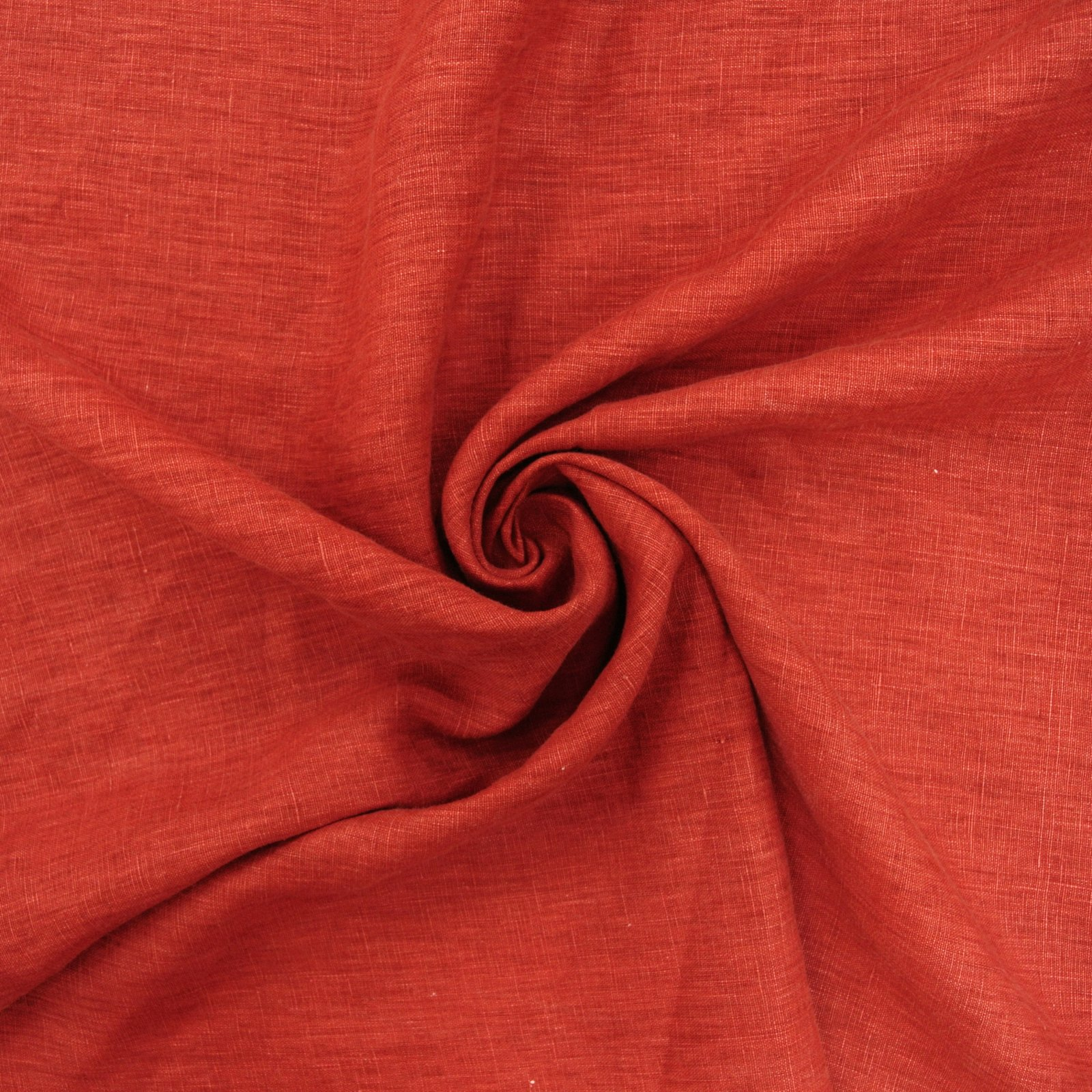 Linen Printed red carmine