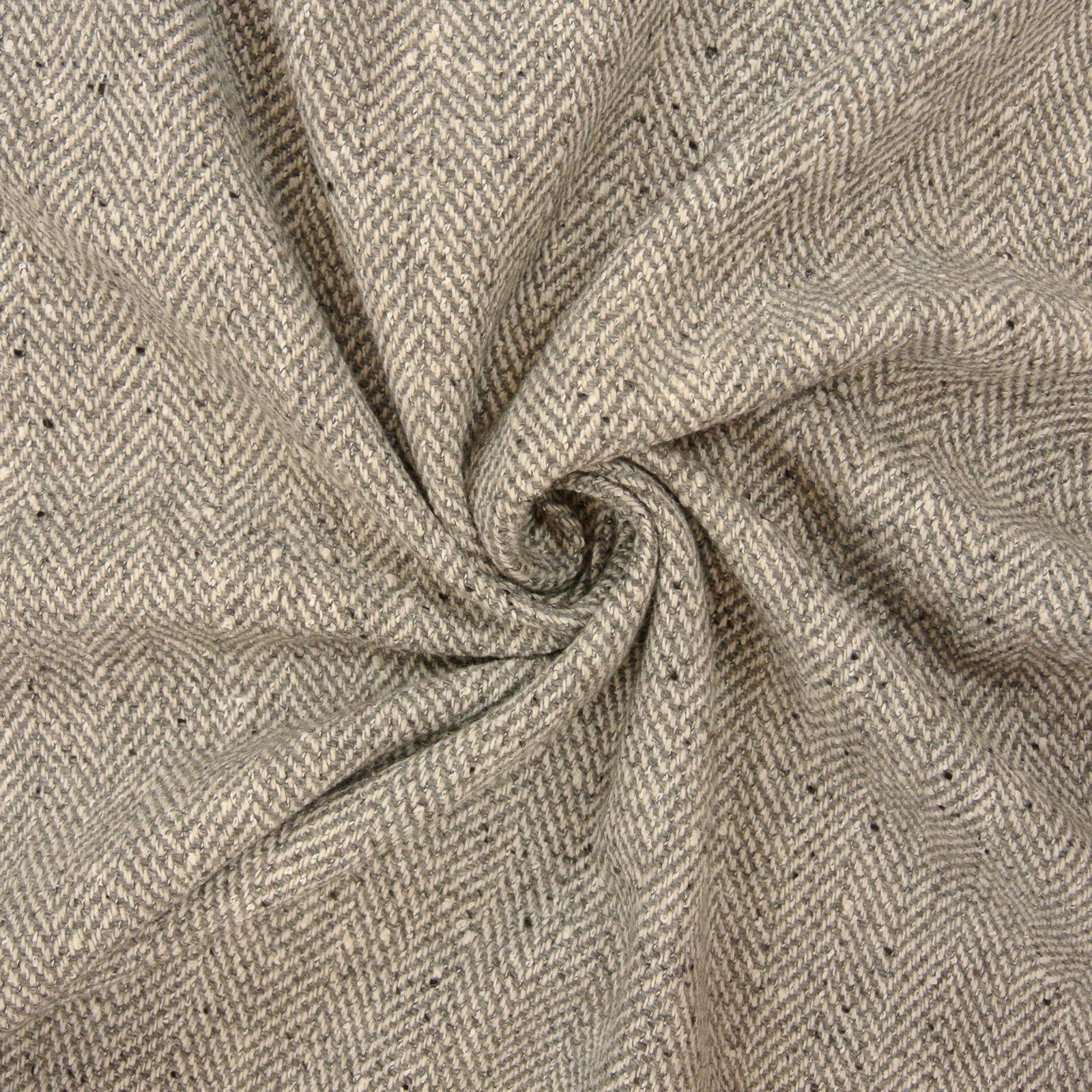 Wool Herringbone dove grey