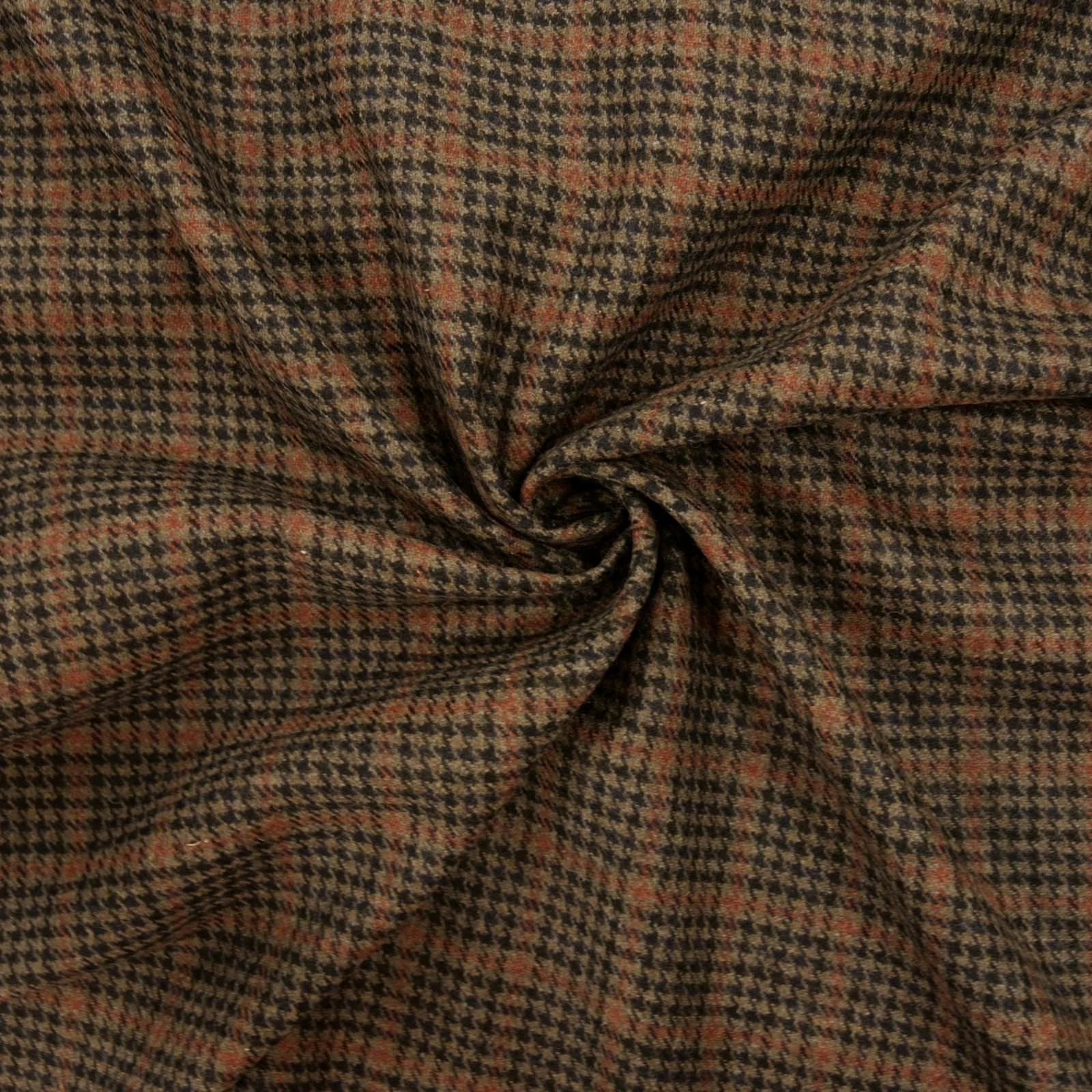 Wool Plaid black tan rust