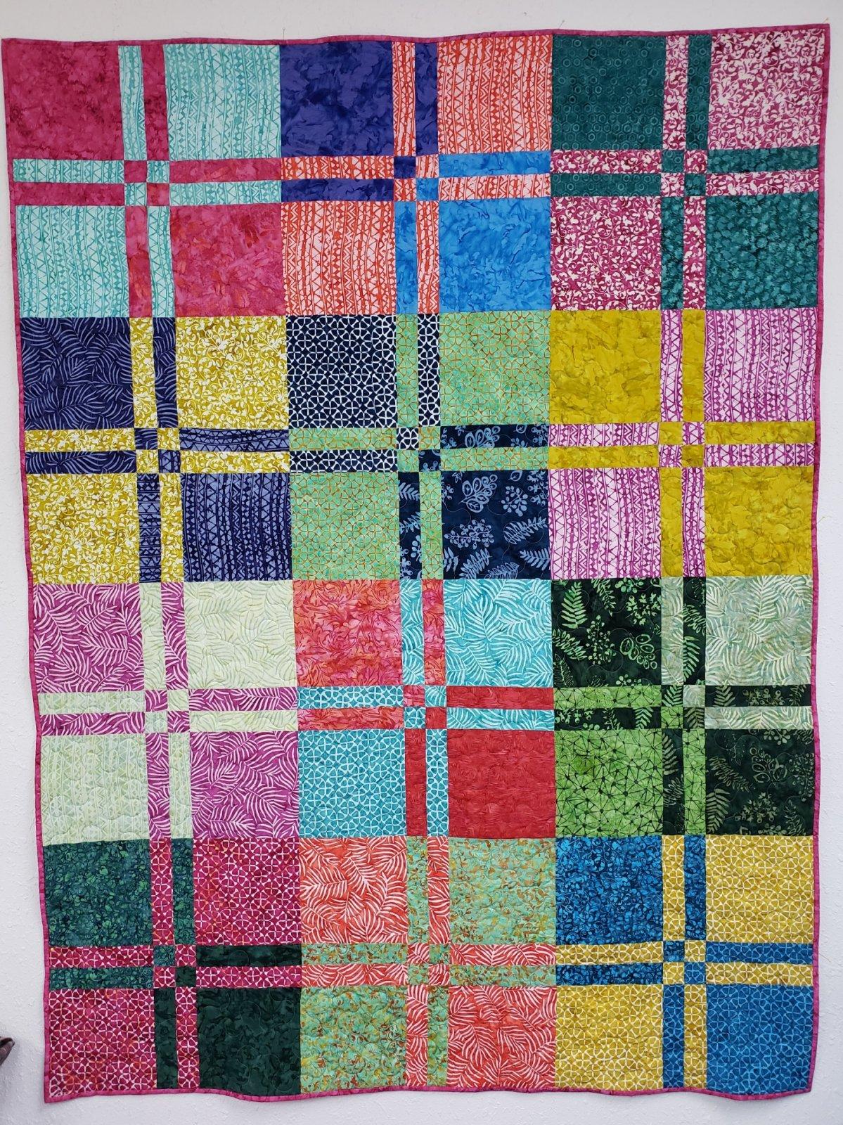 Disappearing 4-Patch Batik Quilt Kit
