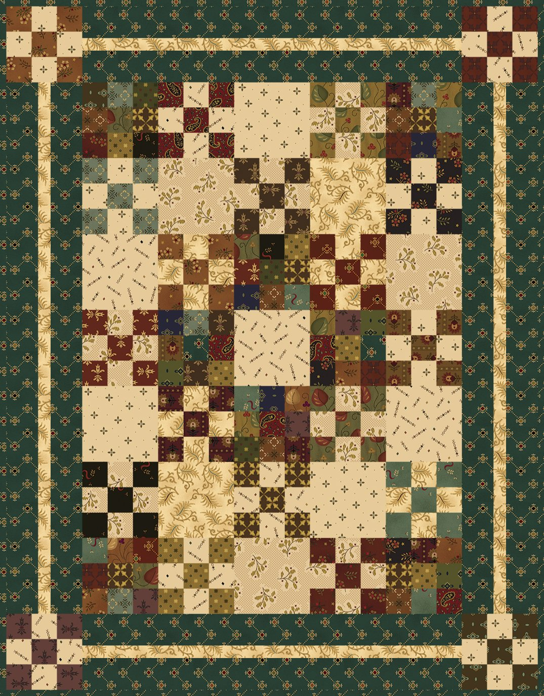 Charm School Quilt Kit by Kim Diehl