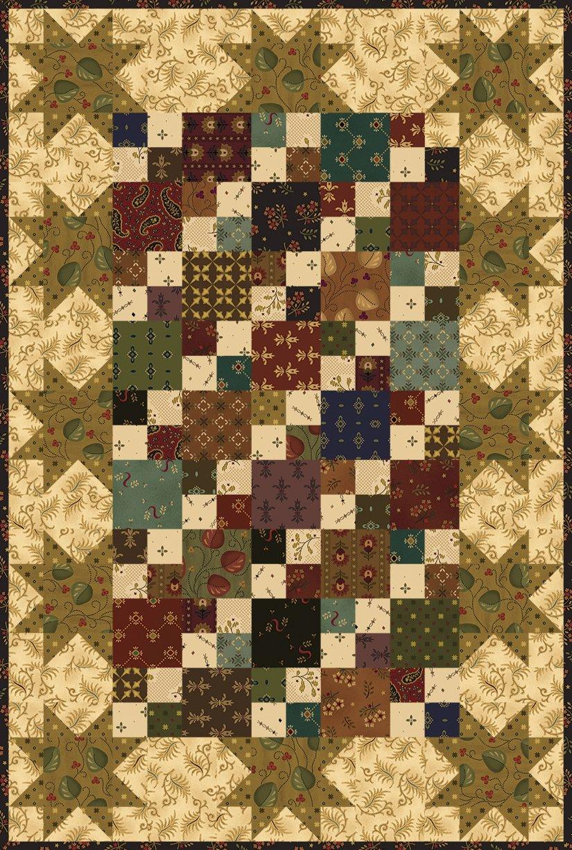 Hen House Stars Quilt Kit by Kim Diehl