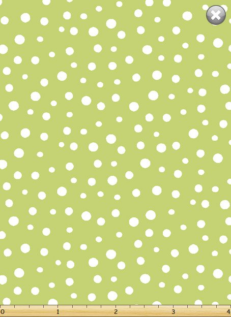 Irregular Dots 20171-830 Green and White