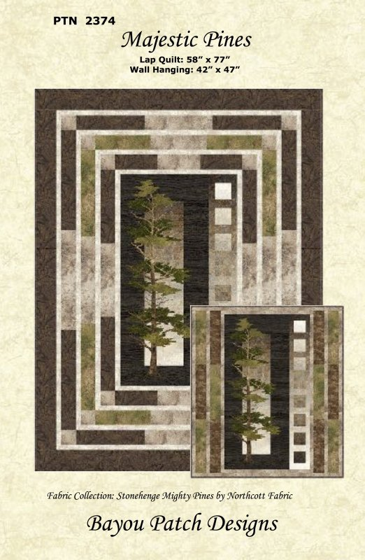 Majestic Pines Lap Quilt featuring Stonehenge Mighty Pines