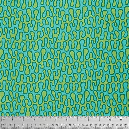 Leaf Dance - Meander - Turquoise - Now 50% off