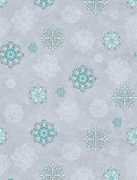 Arctic Wonderland by Hello Angel - Snowflake Toss Lt.Gray