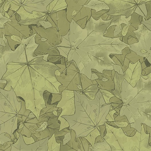 2017 Quilt MN - Y2191  Leaves  Color 24 - Olive