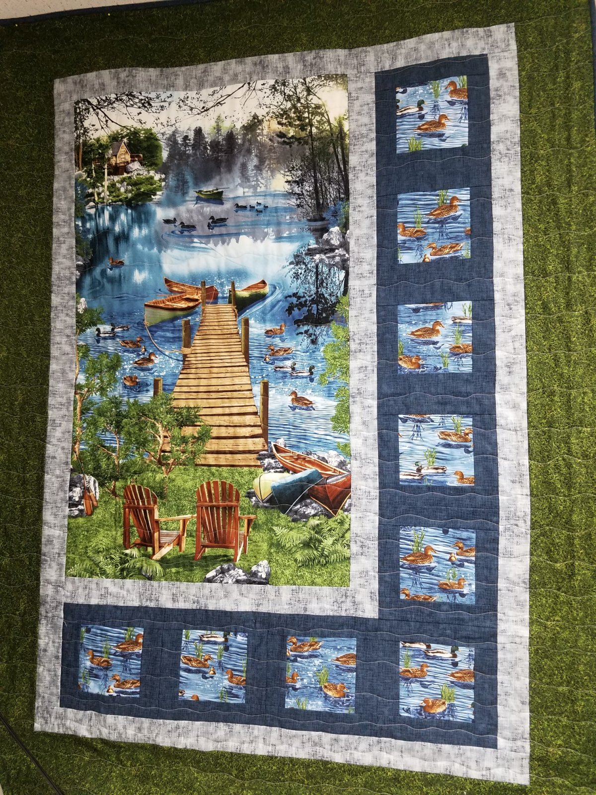 Sidelights Lake Cabin Quilt Kit