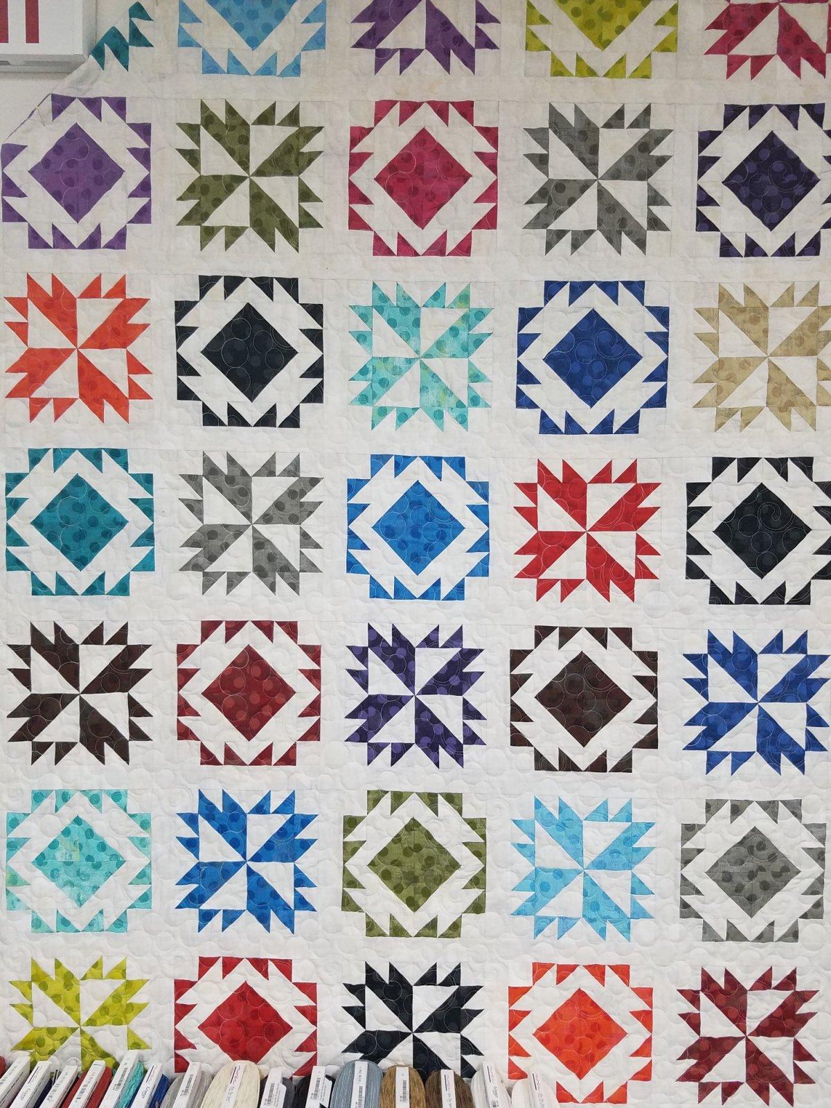 Tiramisu Quilt Kit featuring Moda Grunge Dots