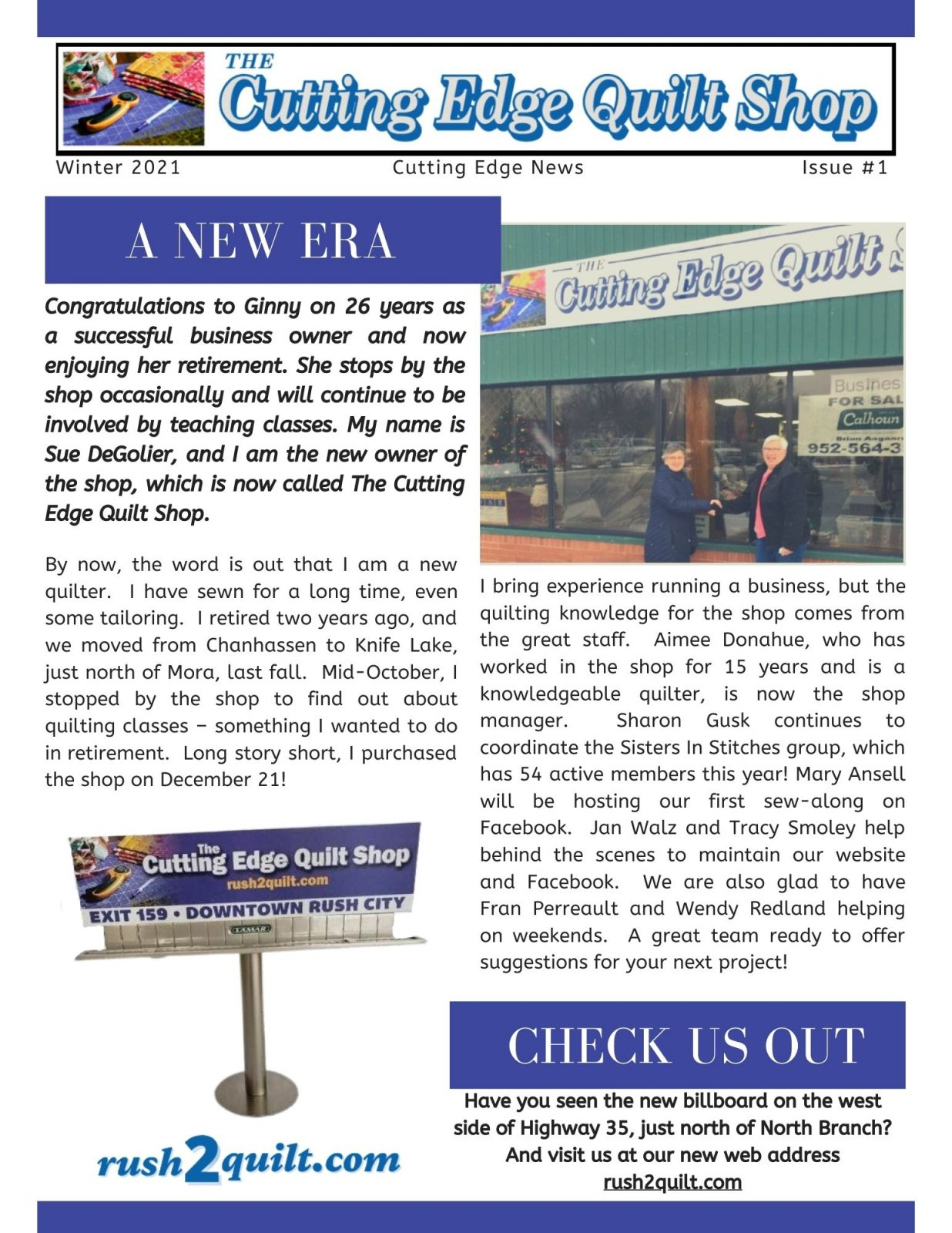 Winter 2021 - Cutting Edge News - Issue#1 - Page 1