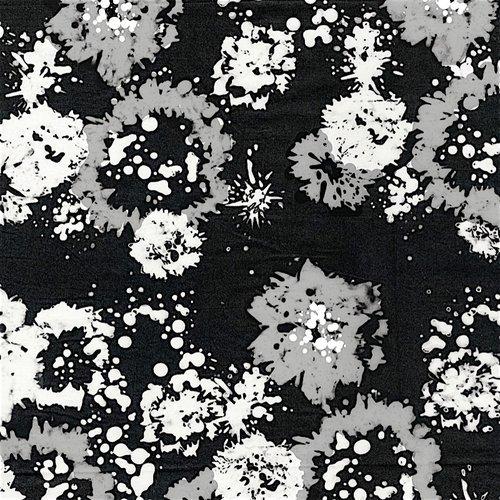 Blossom Batiks Starling Ink Floral B&W