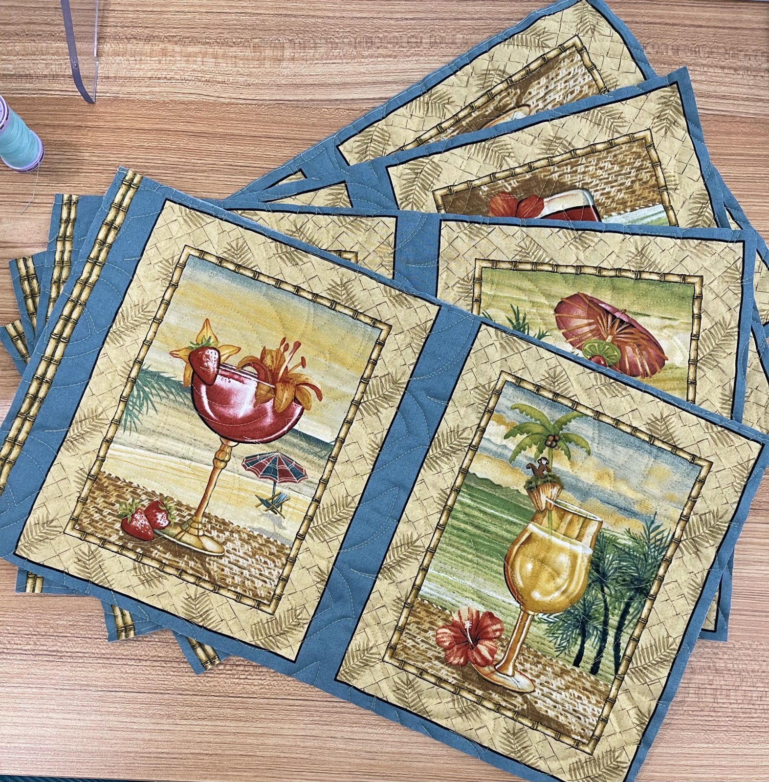 Tropical Placemat Kit ~ Set 4
