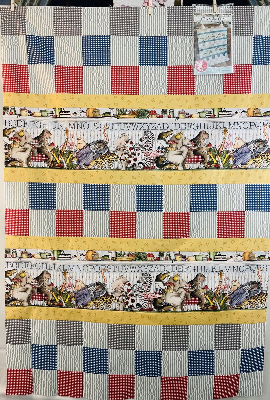 Hungry Animal ~ Check Me Out Quilt Kit