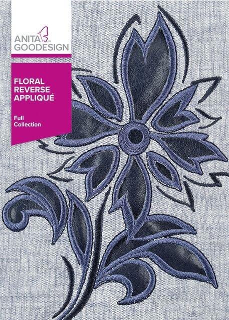 Anita Goodesign Floral Reverse Applique Full Collection
