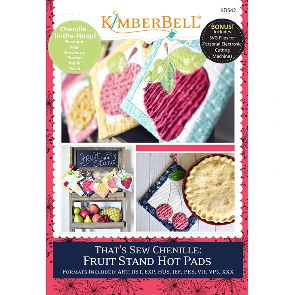 Kimberbell That's Sew Chenille Fruit Stand Hot Pads