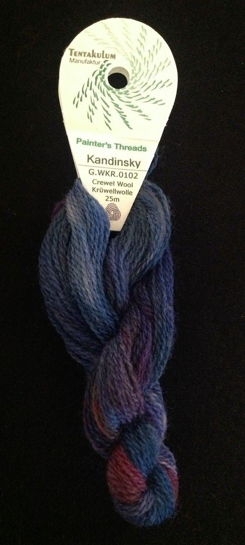 Tentakulum Hand Painted Wool Tapestry Thread Kandinsky