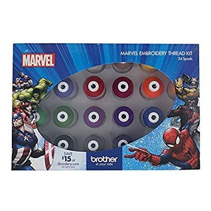 24 Pack Marvel Colors Emb. Thread