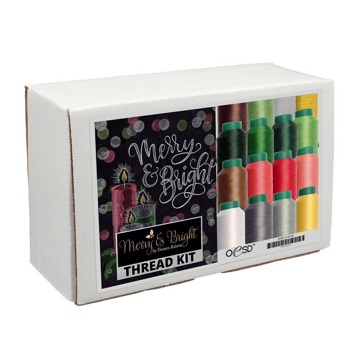 Isacord Merry & Bright Tiling Scene Color Thread Kit - OESD