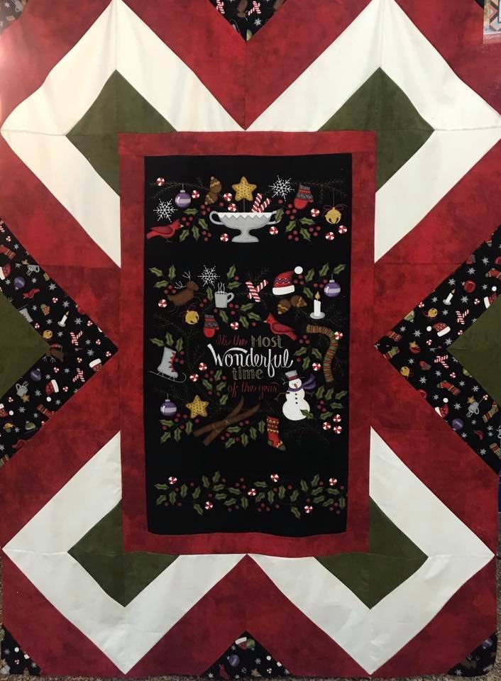 Most Wonderful Time Flannel Quilt Kit 56 x 74