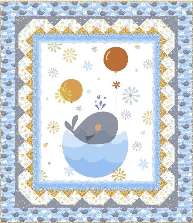 Whale of a Time Quilt Kit with Pattern by Turnowsky for QT Fabrics