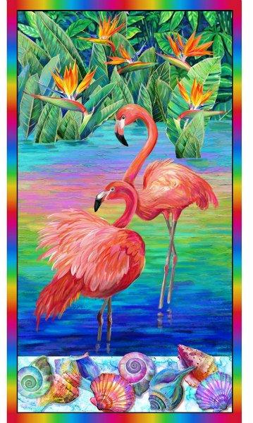 Flamingo Panel by Paintbrush Studio