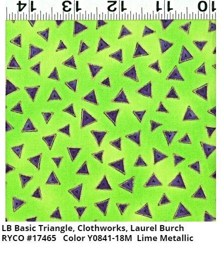 LB Basic Triangle for Clothworks- Lime Metallic
