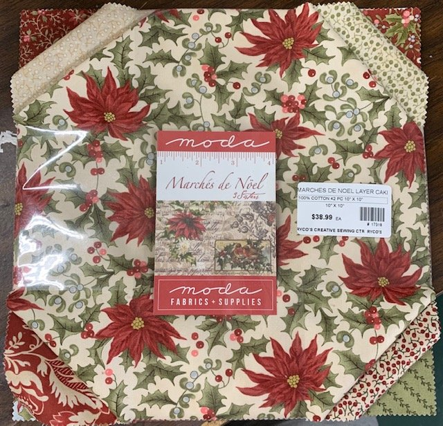 Marches de Noel layer cake by 3 Sisters for Moda