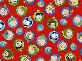 Peanuts Ornaments by Quilting Treasures (22655-R)