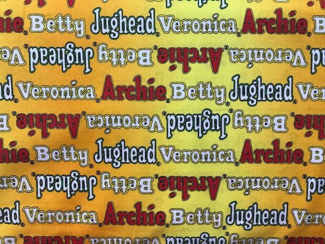Archie's Comics - Logo Names by Camelot Fabrics (25100107-01)