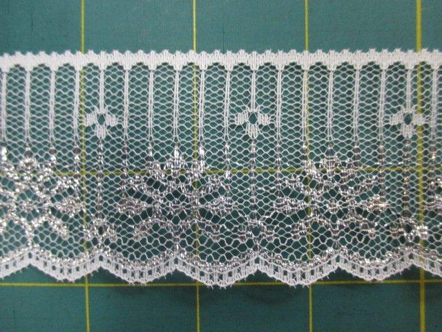 2 Silver Flat Lace (30256)