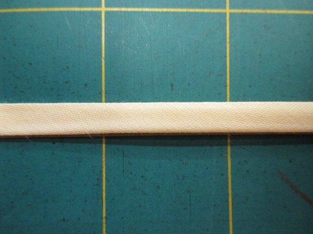 1/4 Double Fold Bias Tape- Light Yellow