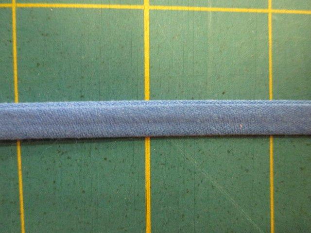 1/4 Double Fold Bias Tape- Medium Blue