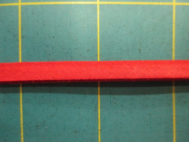 1/4 Double Fold Bias Tape- Dark Red