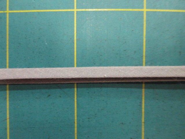 1/4 Double Fold Bias Tape- Grey