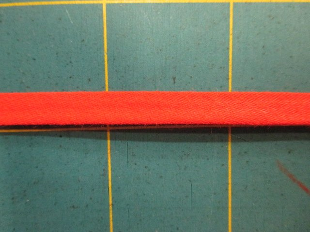 1/4 Double Fold Bias Tape- Red