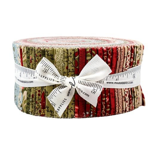 Marches de Noel jelly roll by 3 Sisters for Moda