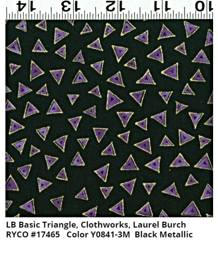 LB Basic Triangle for Clothworks- Black Metallic