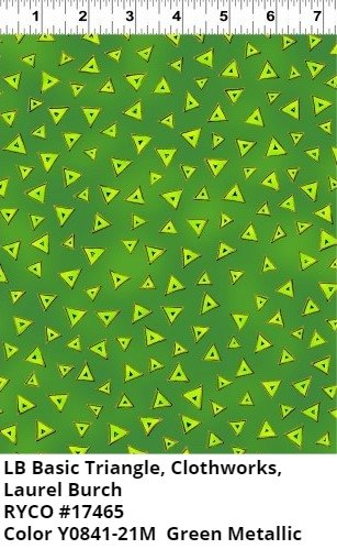 LB Basic Triangle for Clothworks- Green Metallic