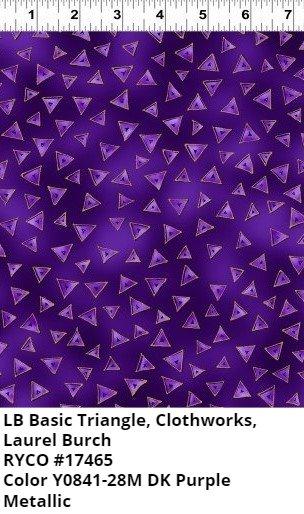 LB Basic Triangle for Clothworks- Dark Purple Metallic