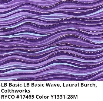 LB Basic Wave by Clothworks- Dark Purple Metallic