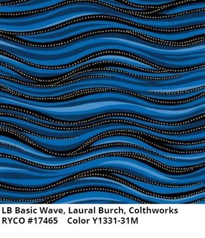 LB Basic Wave by Clothworks- Royal Blue Metallic