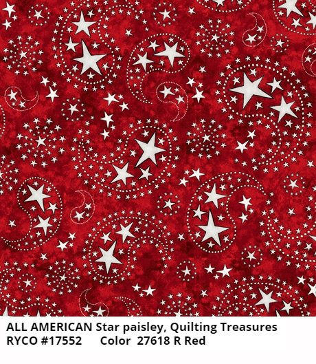 All American by Quilting Treasures- Star Paisley Brick