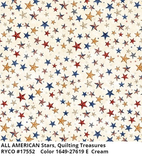 All American by Quilting Treasures- Stars Cream