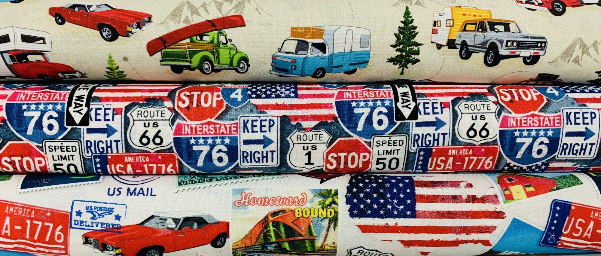 American Road Trip by Whistler Studios for Windham Fabrics