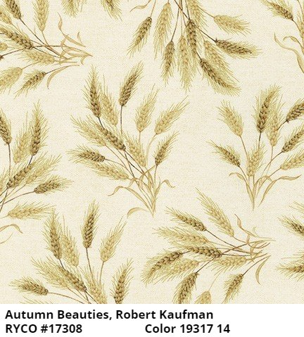 Autumn Beauties Metallic by Robert Kaufman