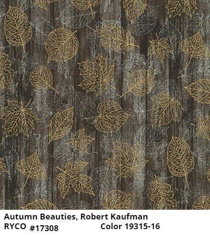 Autumn Beauties Metallic by Robert Kaufman