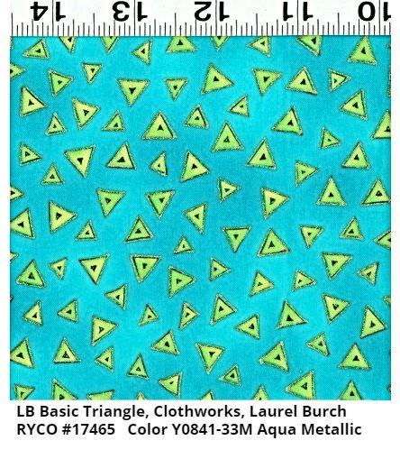 LB Basic Triangle for Clothworks- Aqua Metallic