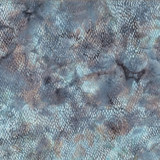 Bali Batik by Wildfire Designs - Alaska Scales; Hoffman Fabrics (R2286-611-River-Rock)