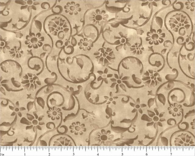 Brown Floral Quilt Backing by Choice Fabrics (BD-47604-703)