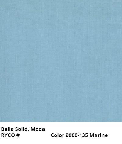 Bella Solids by Moda- Marine